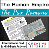 Pax Romana - Reading Handout and Mini Book Activity (Roman