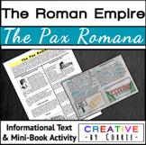 The Pax Romana - Reading Handout and Mini Book Activity -