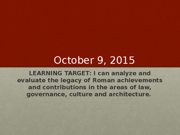 Day 017_Pax Romana and Roman Achievements - PowerPoint