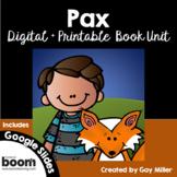 Pax Novel Study: vocabulary, comprehension, writing, skills [Sara Pennypacker]