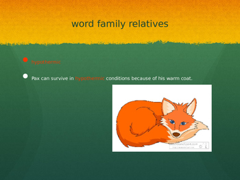 Pax by Sara Pennypacker Vocabulary Powerpoint Chapters 7-12