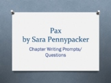 Pax, a novel by Sara Pennypacker. Chapter Ques/Writing Prompts
