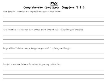 Pax by Sara Pennypacker: A Complete Novel Study!