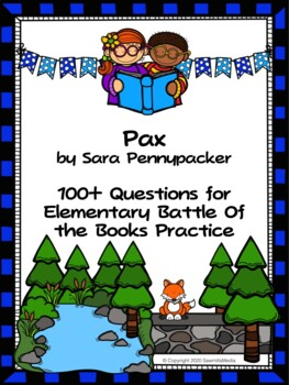 Pax by Sara Pennypacker - Over 100 EBOB Questions