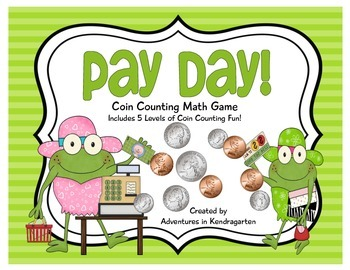 Pay Day Leveled Coin Counting Math Game
