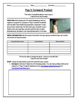 Pay It Forward (PIF) Project