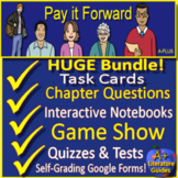 Pay It Forward Novel Study Print AND Google Paperless with Self-grading Tests