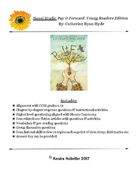 Pay It Forward Young Readers Edition by Catherine Ryan Hyde
