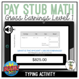 Pay Stub Math Calculating Gross Earnings Level 1 Typing Bo