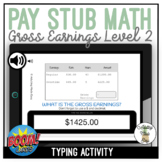 Pay Stub Math Calculating Gross Earnings Level 2 Typing Bo