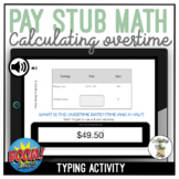 Pay Stub Math Calculating Overtime Rate Typing Boom Cards
