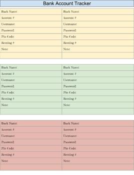 Pay Tracker, Bills Tracker, calendar, Agenda Digital Download PDF