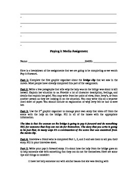 Pay it Forward Media Handout