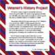 Thank Our Veterans, Writing Ideas, Veterans History Project, Activities, Sub
