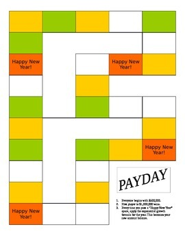 Payday - Exponential Growth Board Game for Algebra