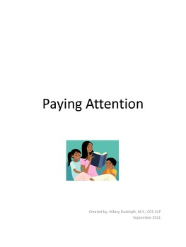 Paying Attention: social story