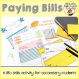 Paying Bills:  A Life Skills Activity for Secondary Students
