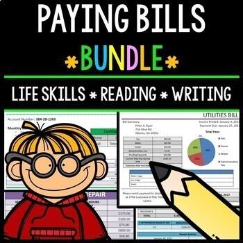 Paying Bills - Life Skills - Reading Comprehension - Special Education - BUNDLE