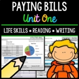 Paying Bills - Life Skills - Reading Comprehension - Special Education - Unit 1