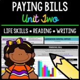 Paying Bills - Life Skills - Reading Comprehension - Special Education - Unit 2