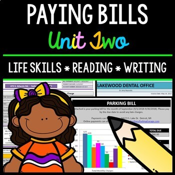 Paying Bills - Life Skills - Reading Comprehension - Speci