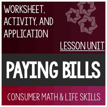 Paying Bills Mini Lesson