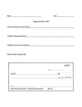 Paying Your Bills (5 worksheets)