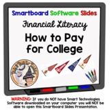 Paying for College Smartboard Lesson with Activity Financial Literacy TEK 6.14.G