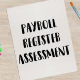 Payroll Register Practice or Assessment