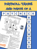 Payroll Taxes and Parts of A Paycheck | Crossword Activity