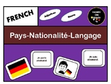 French game: Country, Nationality, language