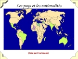 Les Pays du monde - Learning countries of the world in French