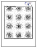 Pays francophones (French-speaking countries) wordsearch
