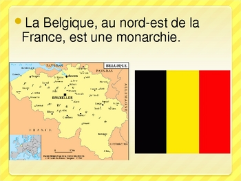 Pays francophones en Europe (French-speaking countries in Europe) power point