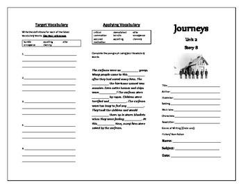 Journeys Grade 5 Trifold (Pea Island's Forgotten Heroes)