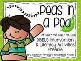 Pea-Pod DIBELS Interventions and Literacy Activities (Freebie)