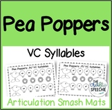 Pea Poppers: Articulation Smash Mats for VC Syllables