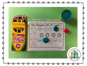 Pea Poppers: Articulation Smash Mats for /f, v, th/