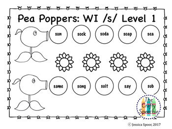 Pea Poppers: Articulation Smash Mats for /s, z/