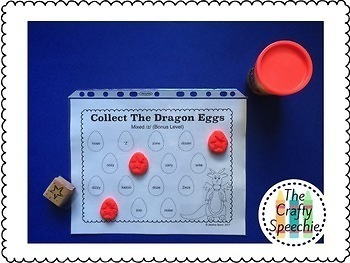 Collect The Dragon Eggs: Articulation Smash Mats for /s, z/