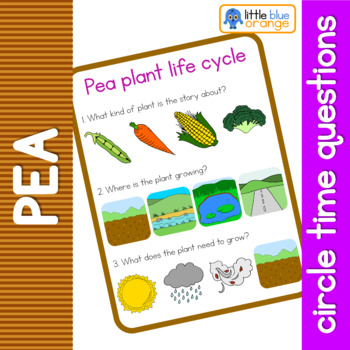 Pea life cycle circle time questions