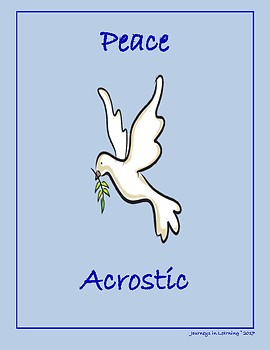 Peace Acrostic - FREEBIE by Journeys in Learning | TpT