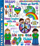 Peace Begins With Me Clip Art Download - Distance Learning