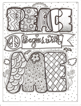 Peace Begins With Me Coloring Sheet