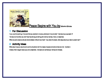 Peace Begins with You for Guided Reading