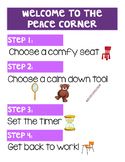 Peace Corner Directions
