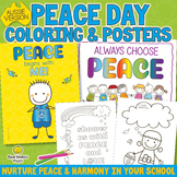 Peace Day Colouring Pages, Posters & Note Paper - A4 Format
