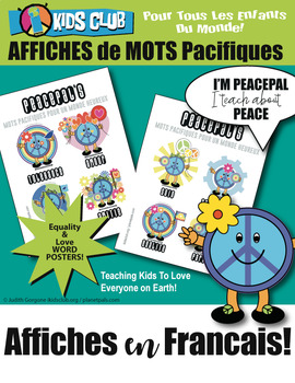 French Language Words Posters Peace Kindness Inclusion Social Emotional Learning