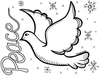 Peace Dove Coloring Sheet
