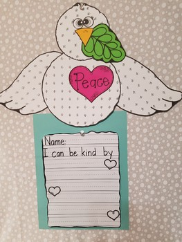 Peace Dove Writing and Craft Activity, Dr. Martin Luther King Jr. Day Activity